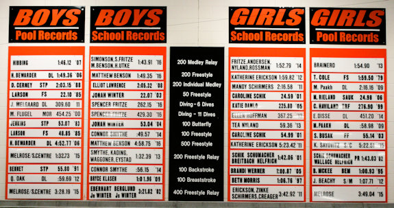 Park Rapids Panthers Swimming & Diving Records